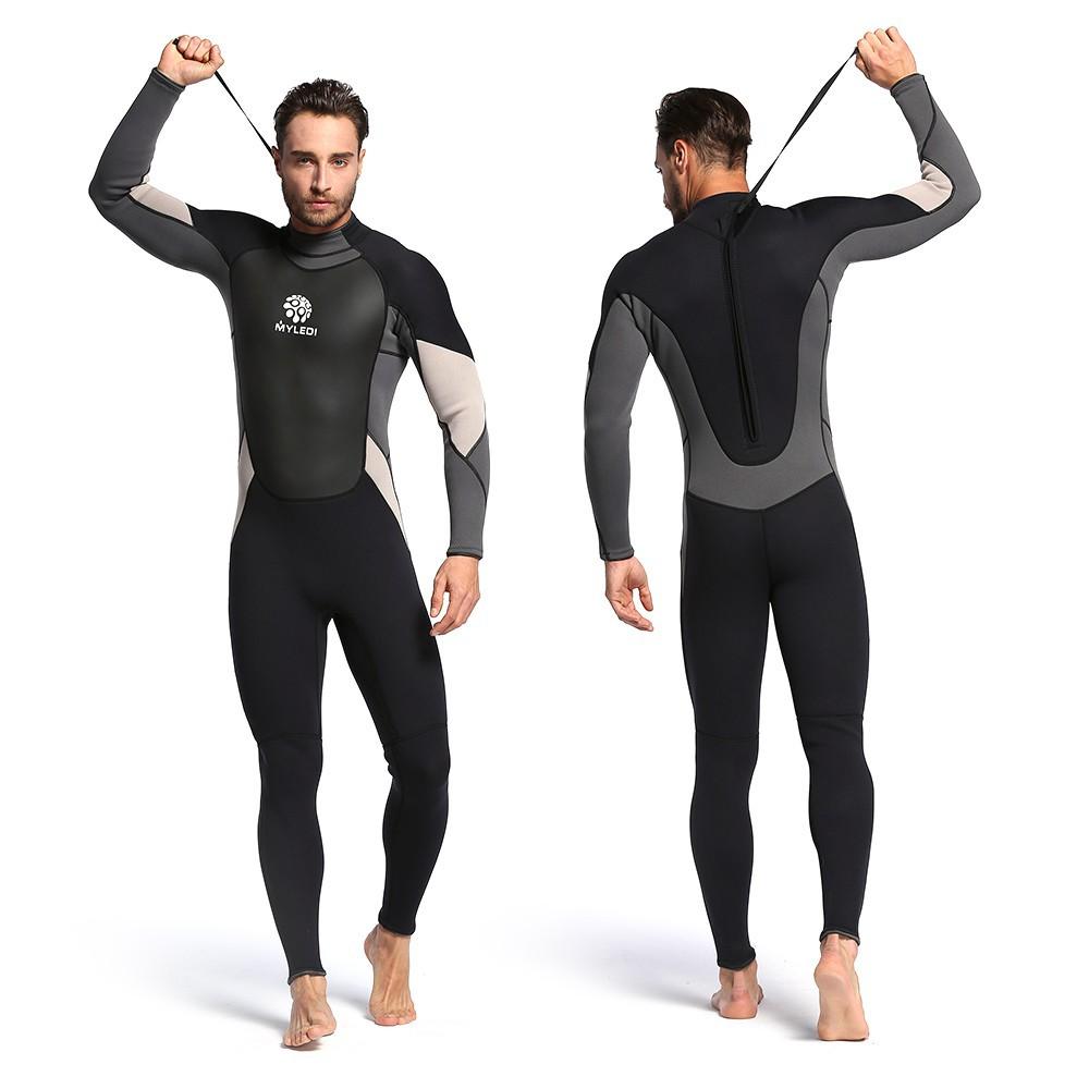 7559e50c76 Men 3mm Neoprene Wetsuit Full Body Wet Suit Dive Surf Swim | Shopee  Philippines