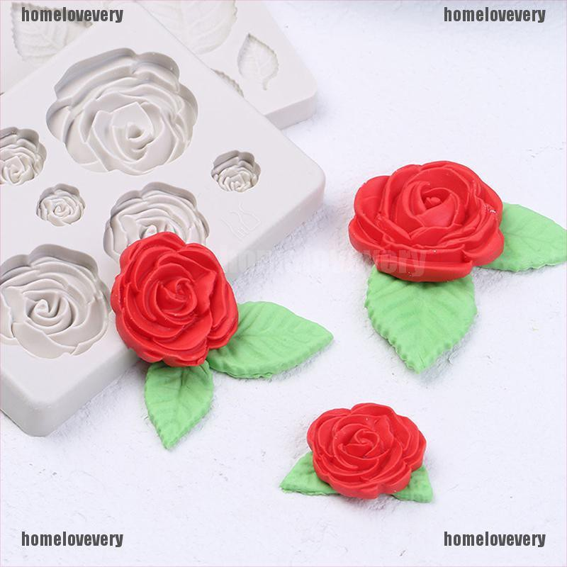 3d rose flower silicone fondant chocolate mould cake decor sugarcraft mold YU