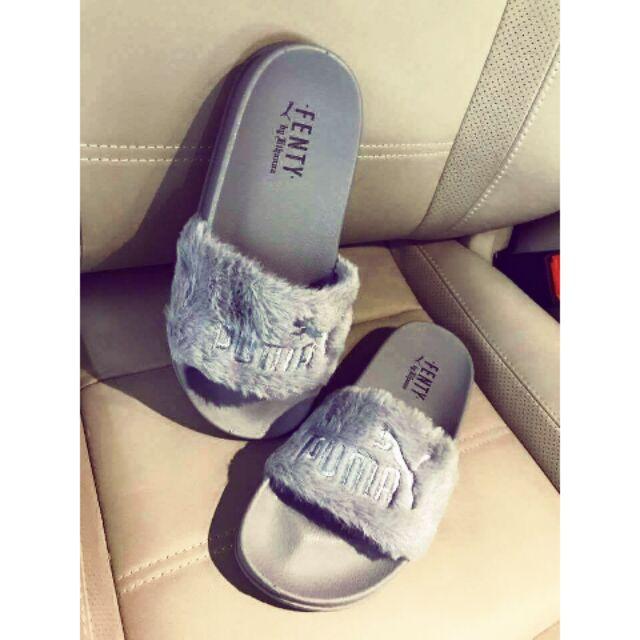37537f6dfa39 Fur fenty slippers NIKE