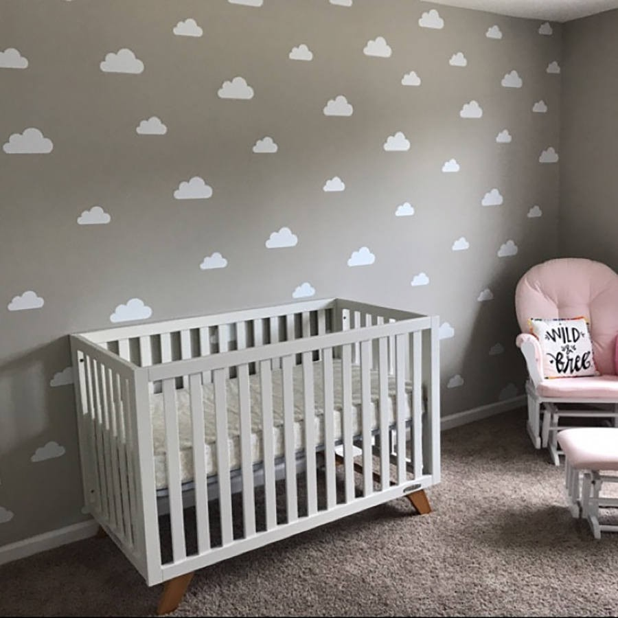Set Of Clouds Wall Decal Nursery