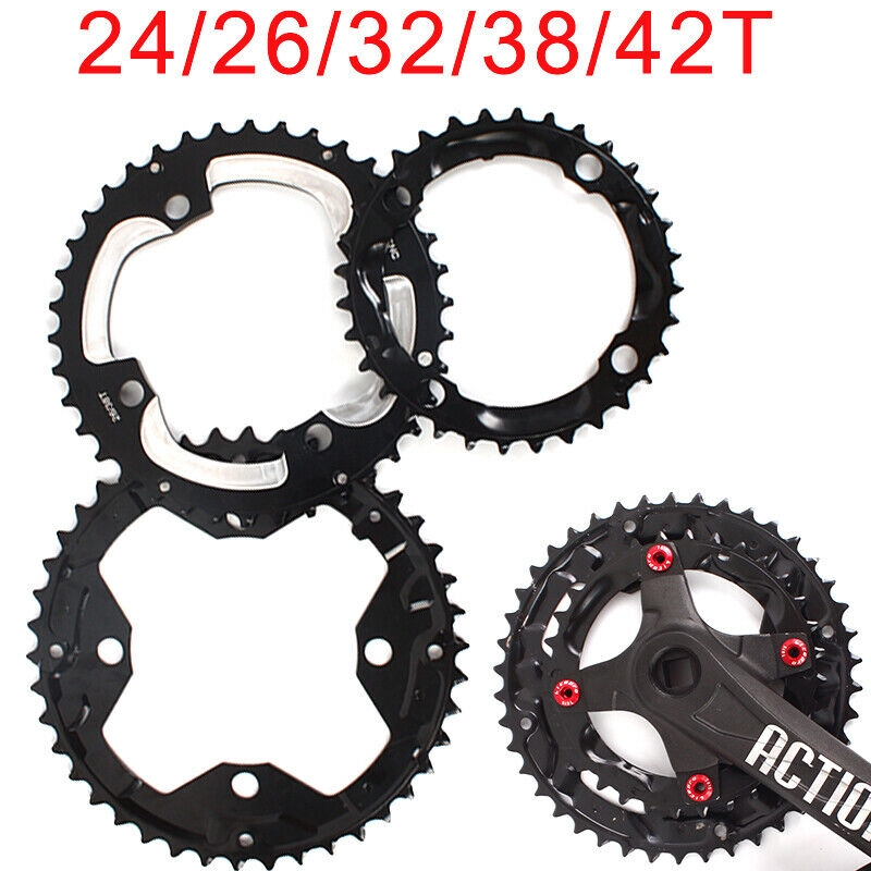 MTB Road Bike Chainring Narrow Wide Bicycle Chain Round Oval Wheel BCD104 38-42T
