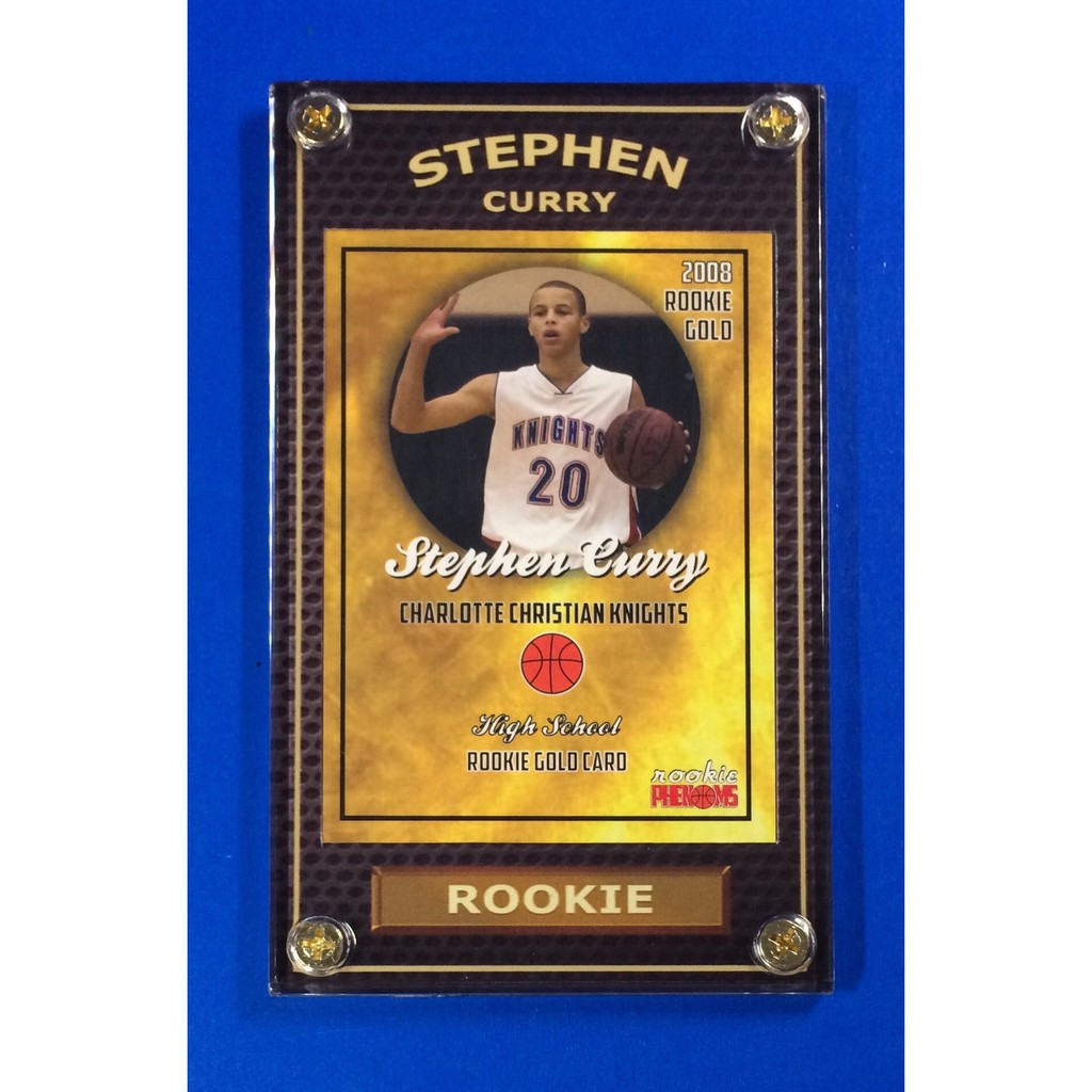 Hot Stephen Curry Rookie 2008 Warriors Nba Phenoms Card