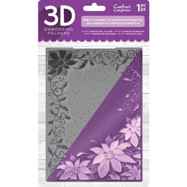 Darice Embossing Folder Background 5X7-Snowflake