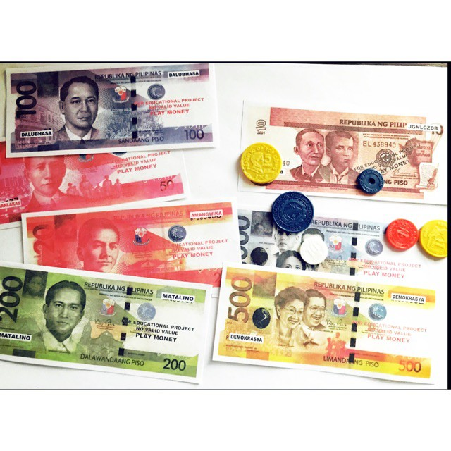 1pack FAKE BILLS TOY Philippine Peso Play Money