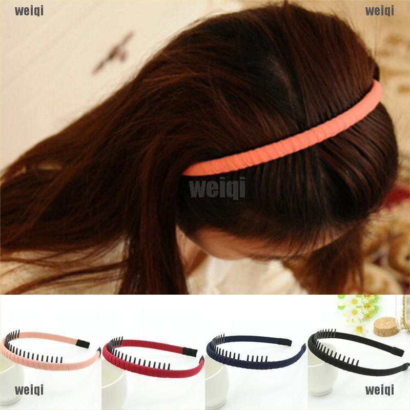 10x Plain Headbands with Teeth DIY Hair Accessories Headwear Black Hair Hoop