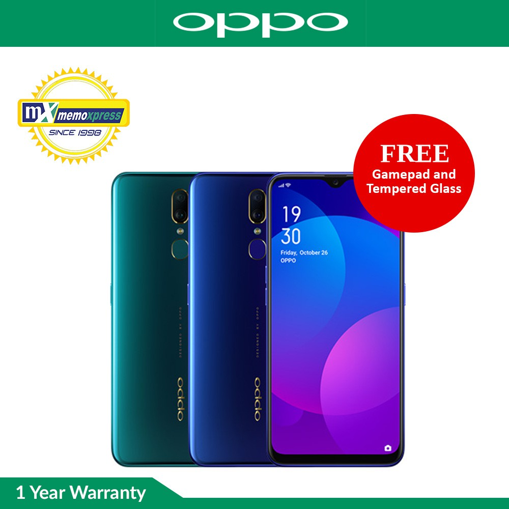 Oppo F11 6GB RAM | 64GB ROM with Free Gamepad and Tempered Glass