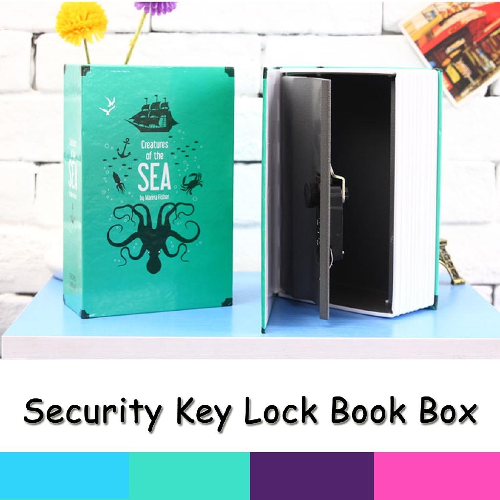 18x11 5x5 5CM Key Lock Hidden Security Book Box Safety Money