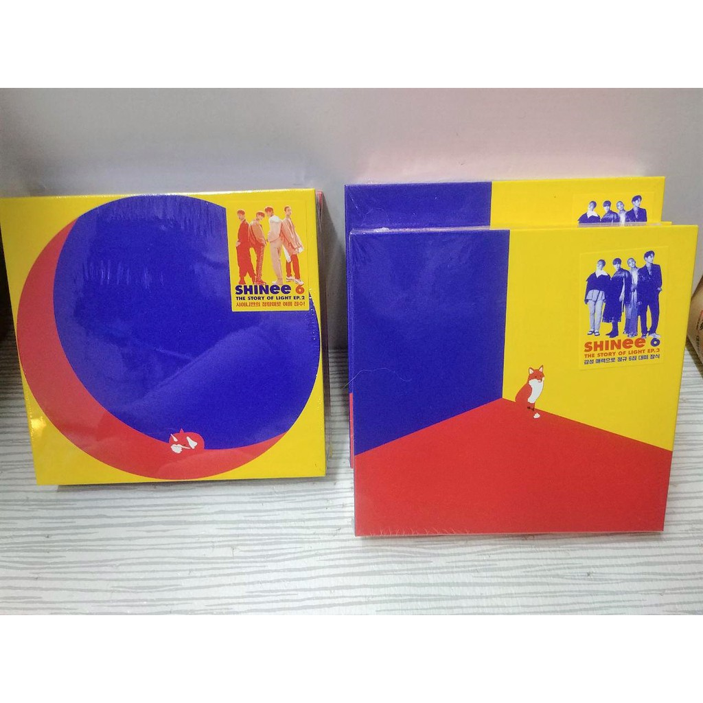SHINEE THE STORY OF LIGHT EP 2 AND EP 3 ALBUM + POSTER