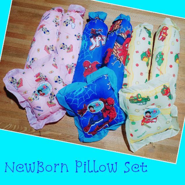 3n1 NewBorn Pilllow Set (1)Head Pillow & (2)Bolster