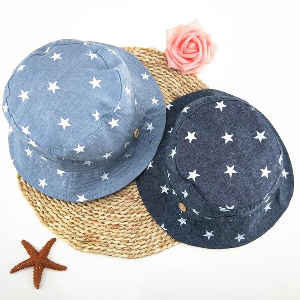 Baby Hat Cotton Newborn Sun Hat Girls Bucket Fisherman Hat Denim Cartoon Toddler Kids Tractor Cap