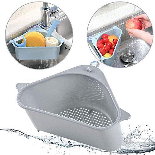 Kitchen Sink Corner Strainer Peel Filter Triangular Drain Shelf Storage Rack Soap Basket Shopee Philippines