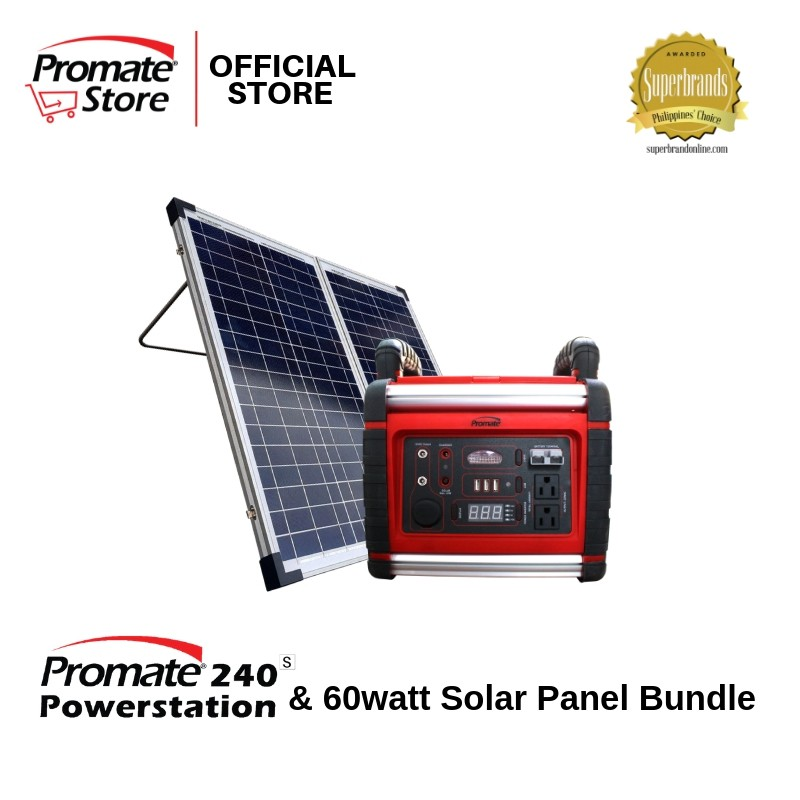 Promate 240s and Solar Panel 60watts Combo