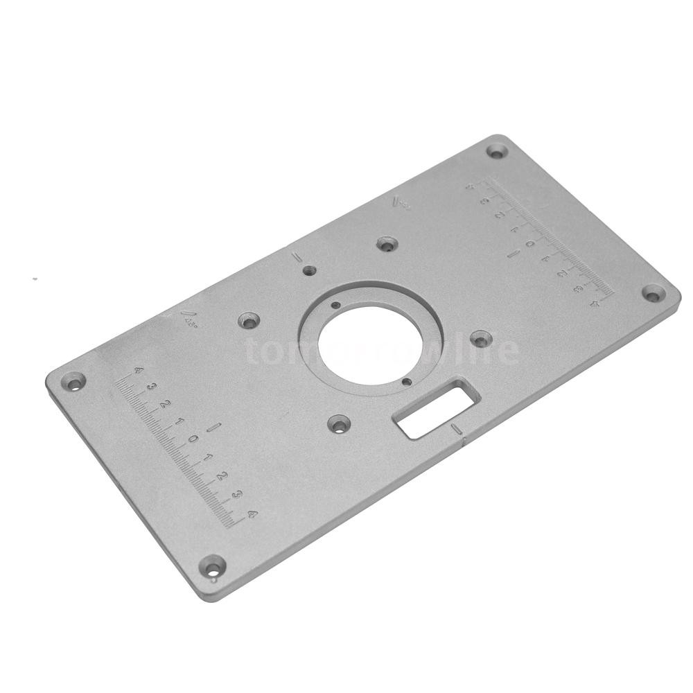 Multifunctional Router Table Insert Plate Woodworking Benches Aluminium Wood Router Trimmer Models E