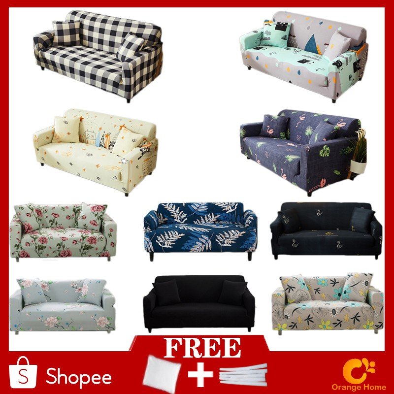 Floral Fabric Stretch Sofa Cover 1//2//3//4 Seaters L Shape Universal Slipcovers US