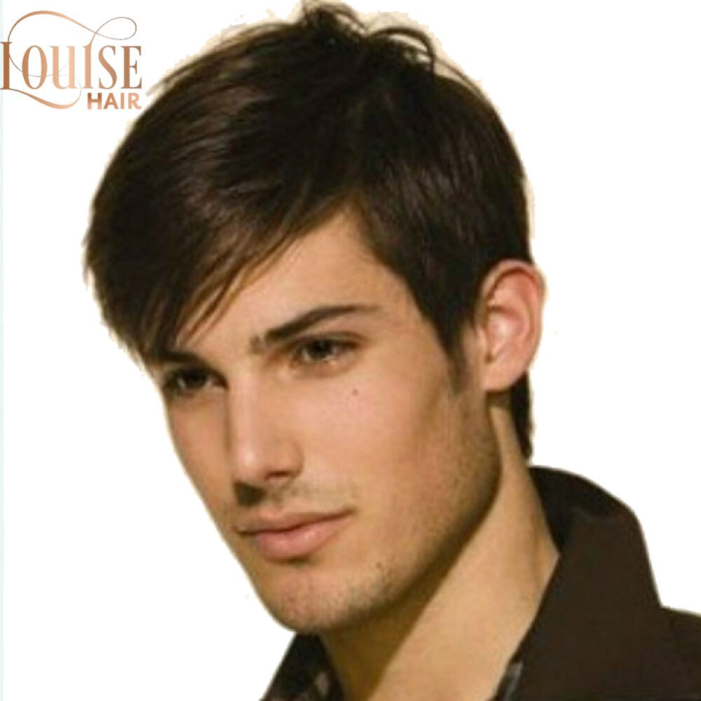 The Beauty Shop Louise Dark Brown Wig Mens Short Synthetic Hair Wigs Hort Straight Synthetic Men Wigs Dark Brown Color Natural Male Wig Shopee Philippines