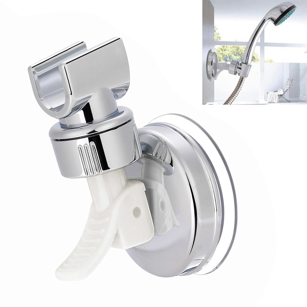 Shower Handset Holder CHROME Bathroom Wall Mounted Adjustable Suction Bracket