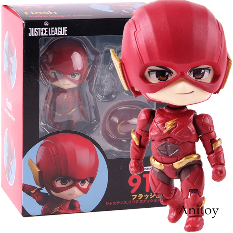 """In STOCK GSC /""""The Flash/"""" Justice League Edition 917 Nendoroid Action Figure"""