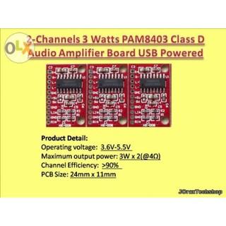 2-Channels 3-Watts PAM8403 Class D Audio Amplifier Board