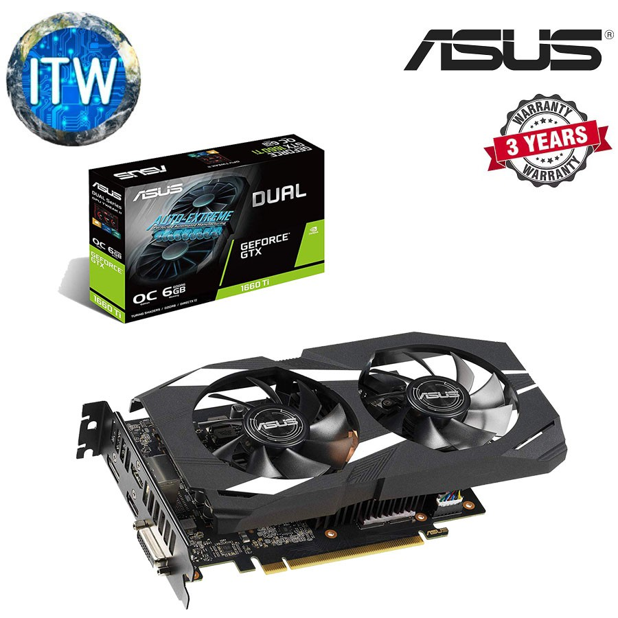 ASUS Dual GeForce GTX 1660 Ti DUAL-GTX1660TI-O6G GPU