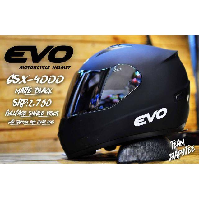 evo helmet single visor