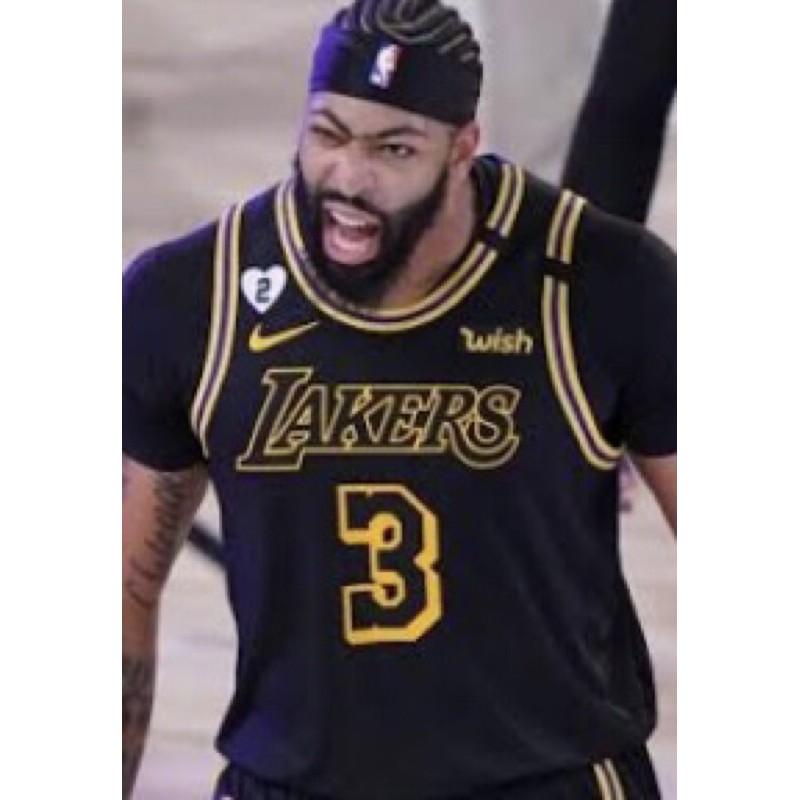 HIGH QUALITY Anthony Davis Black Mamba Jersey/Lakers jersey/Nba ...