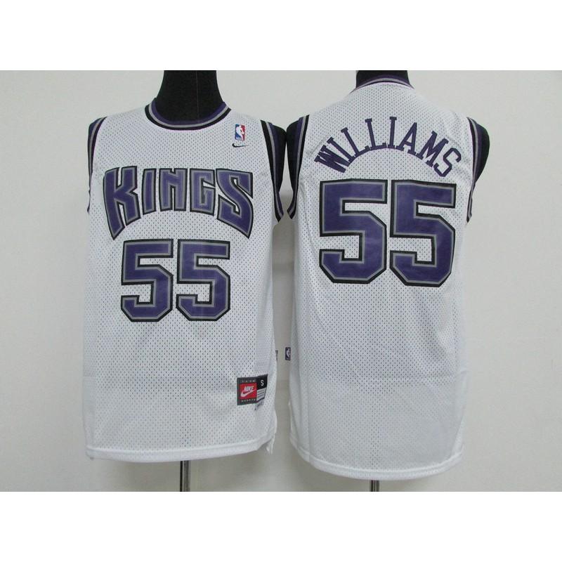 free shipping 571a6 28300 Nike Jason Williams #55 Sacramento Kings NBA Jersey Uniform