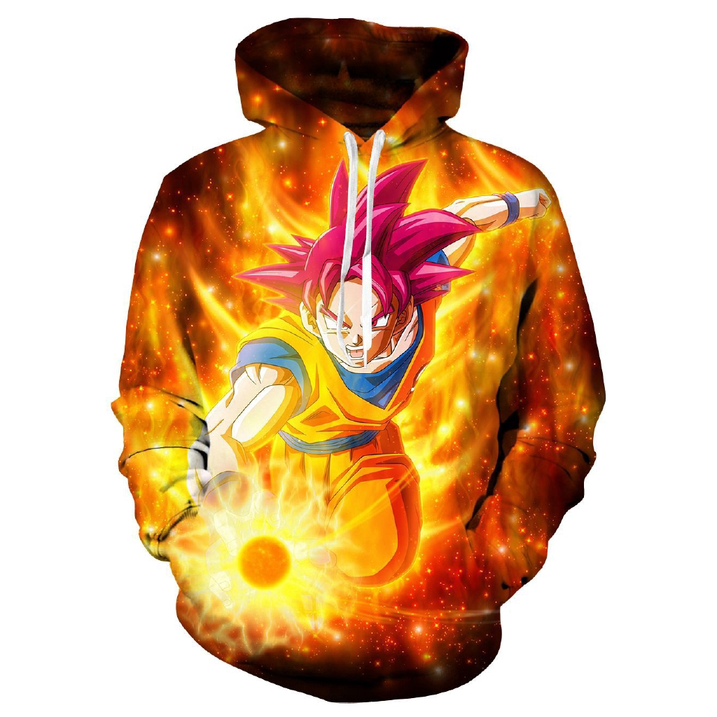 Dragon Ball Hoodies Lovers Goten Trunks Pattern Sweater Sweatshirts Gotenks New