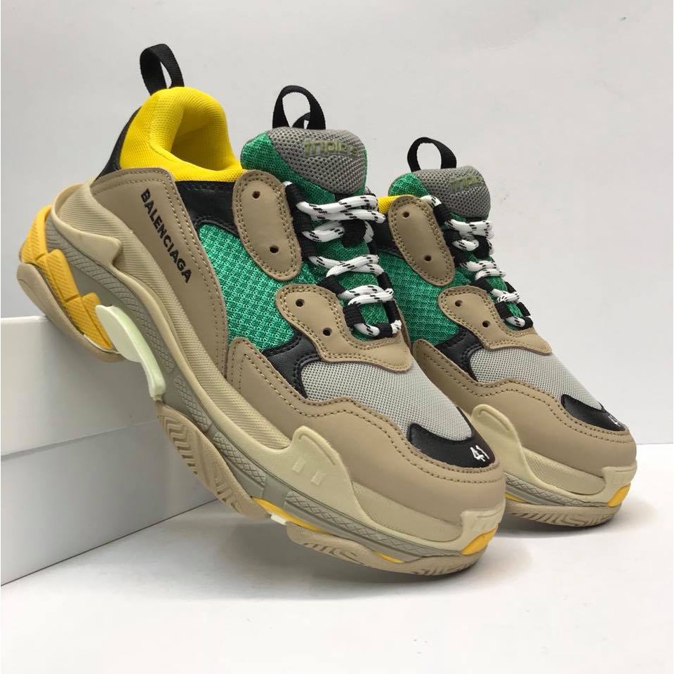 Balenciaga Suede Triple S Sneakers in Black for Men Lyst