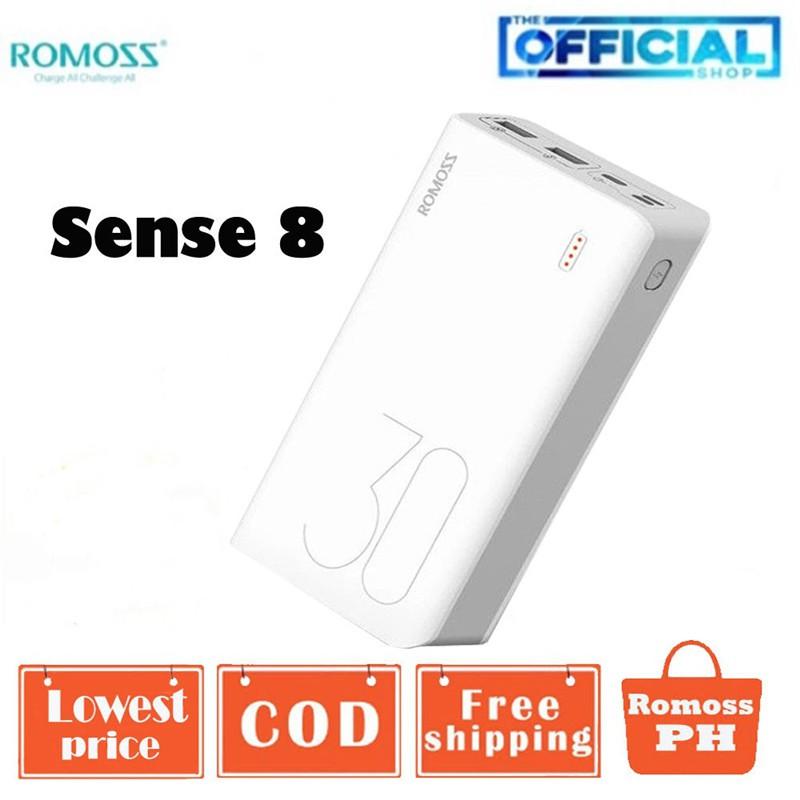 100% Original Romoss Sense 8 30000mAh Powerbank High capacity