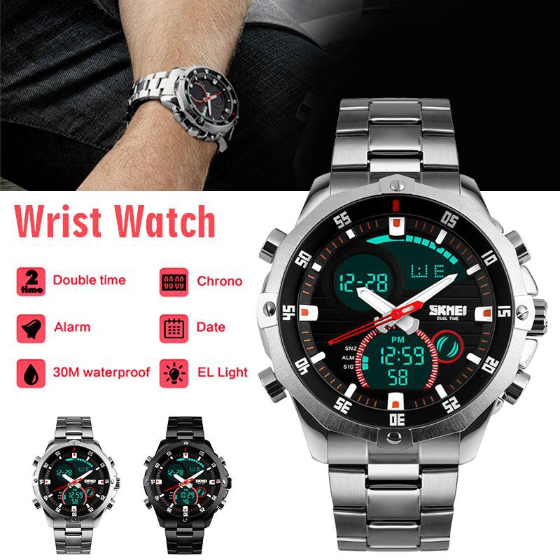 Watches Synoke Smart Watch For Man Waterproof 5bar Luxury Stainless Steel Mesh Rubber Pedometers Message Reminder Sport Smart Watch To Have A Long Historical Standing