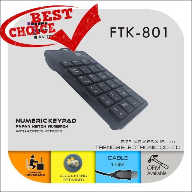 Mini 23-Keys USB Number Pad Keypad Numeric Keyboard