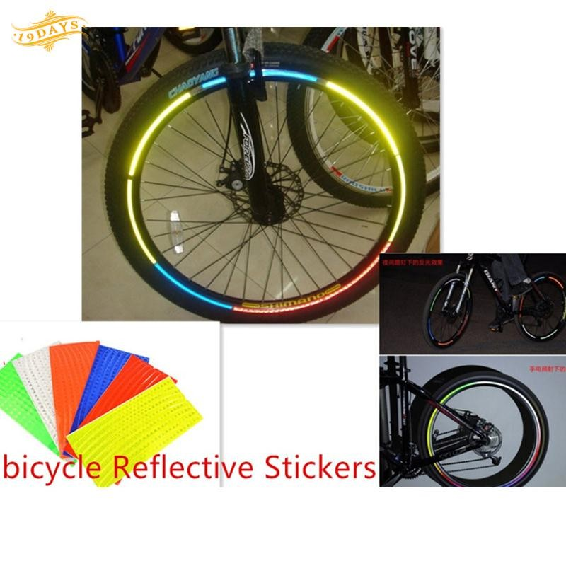 NEW CYCLE WHEEL REFLECTOR SET ORANGE BIKE BICYCLE PAIR CLIP ON TO SPOKES
