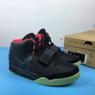 | NIKE Air Yeezy 2 NRG Black Solar Red Style