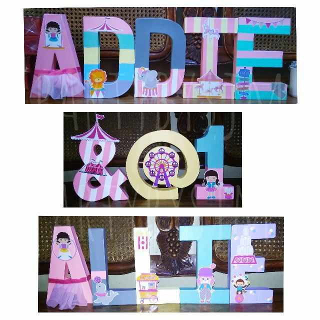 Circus Letters Standee Set 3 ft 8 in