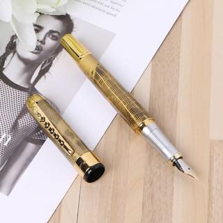 Jinhao X250 Deluxe Gold Grid Fountain Pen Medium Nib