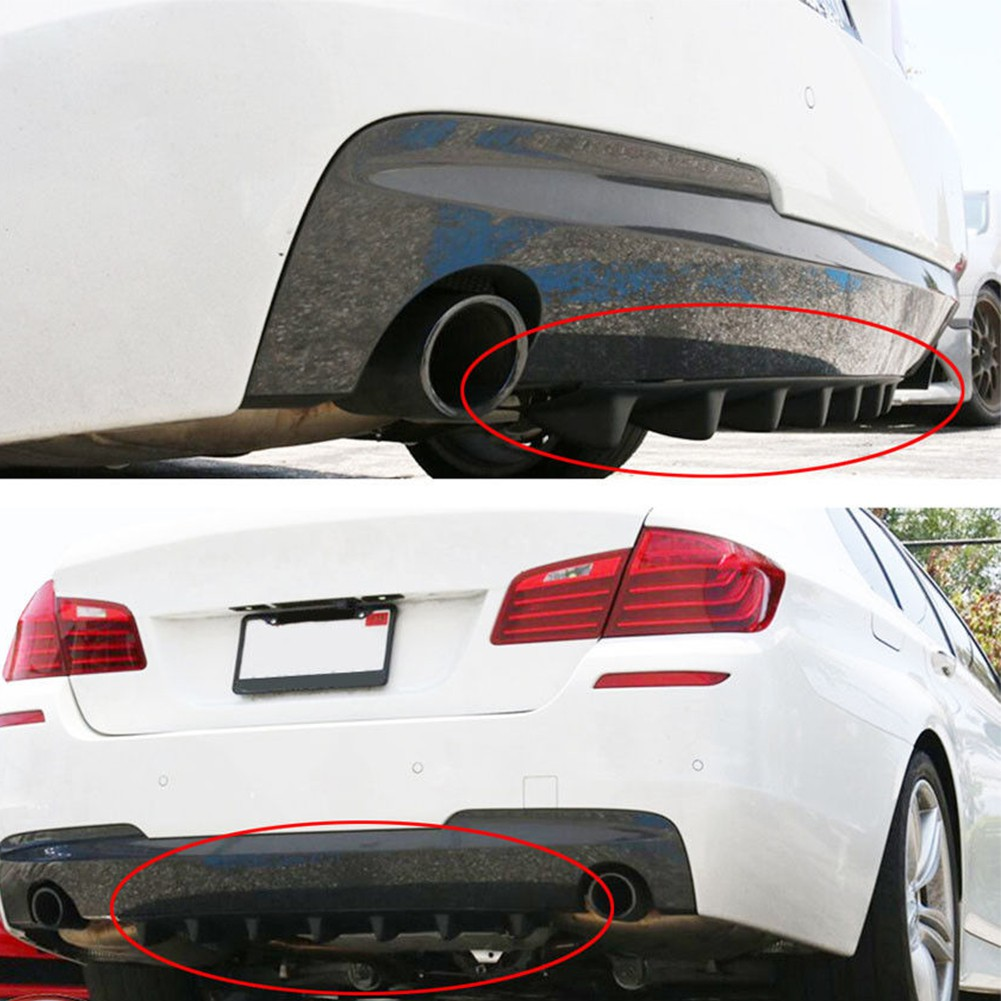 """Shark Fin 5 Wing Lip Diffuser 14/""""x 6/"""" Rear Bumper Chassis Black ABS Universal"""