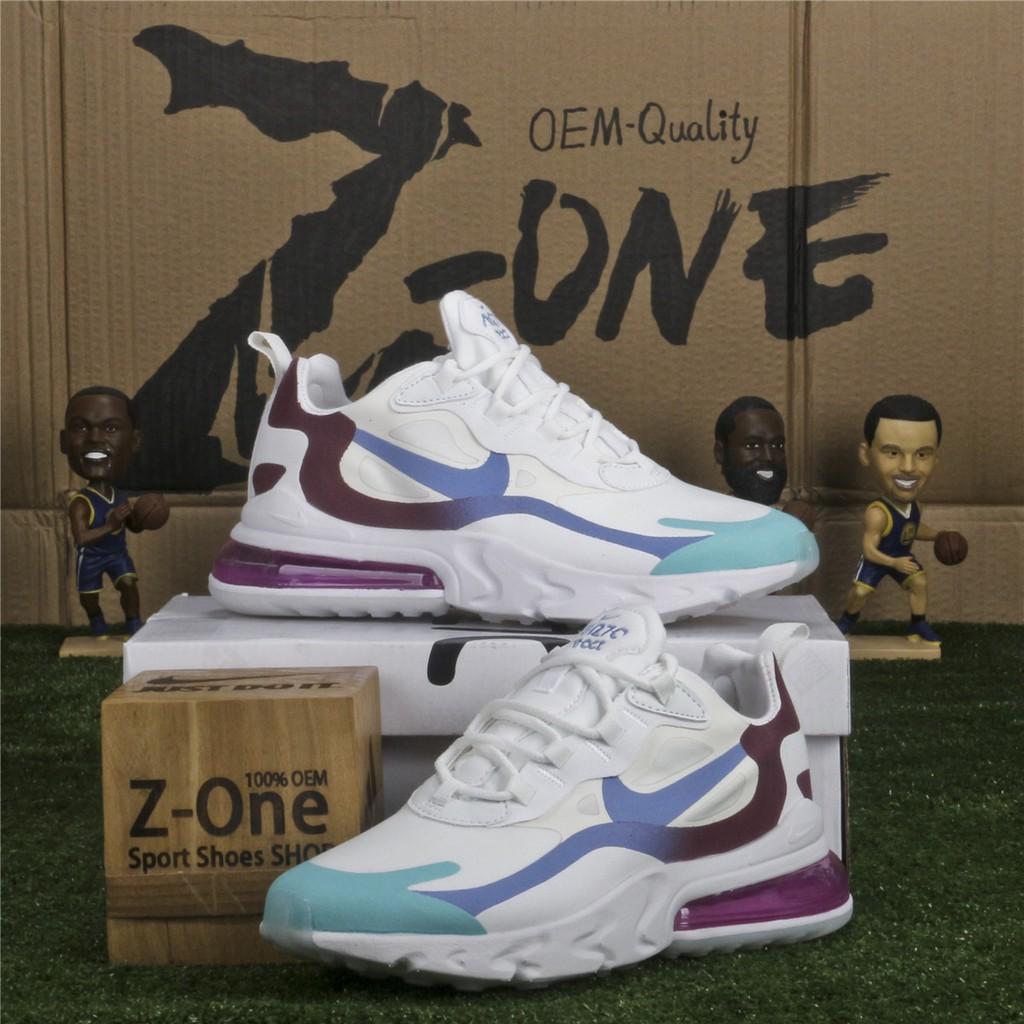 Nike AIR MAX 270 REACT Running Shoes for women WhiteMoonPurple