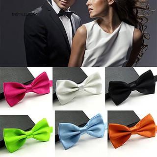 half price 2020 half off ✌Iy Men Classic Solid Color Bowtie Necktie Tuxedo Wedding Adjustable Bow Tie