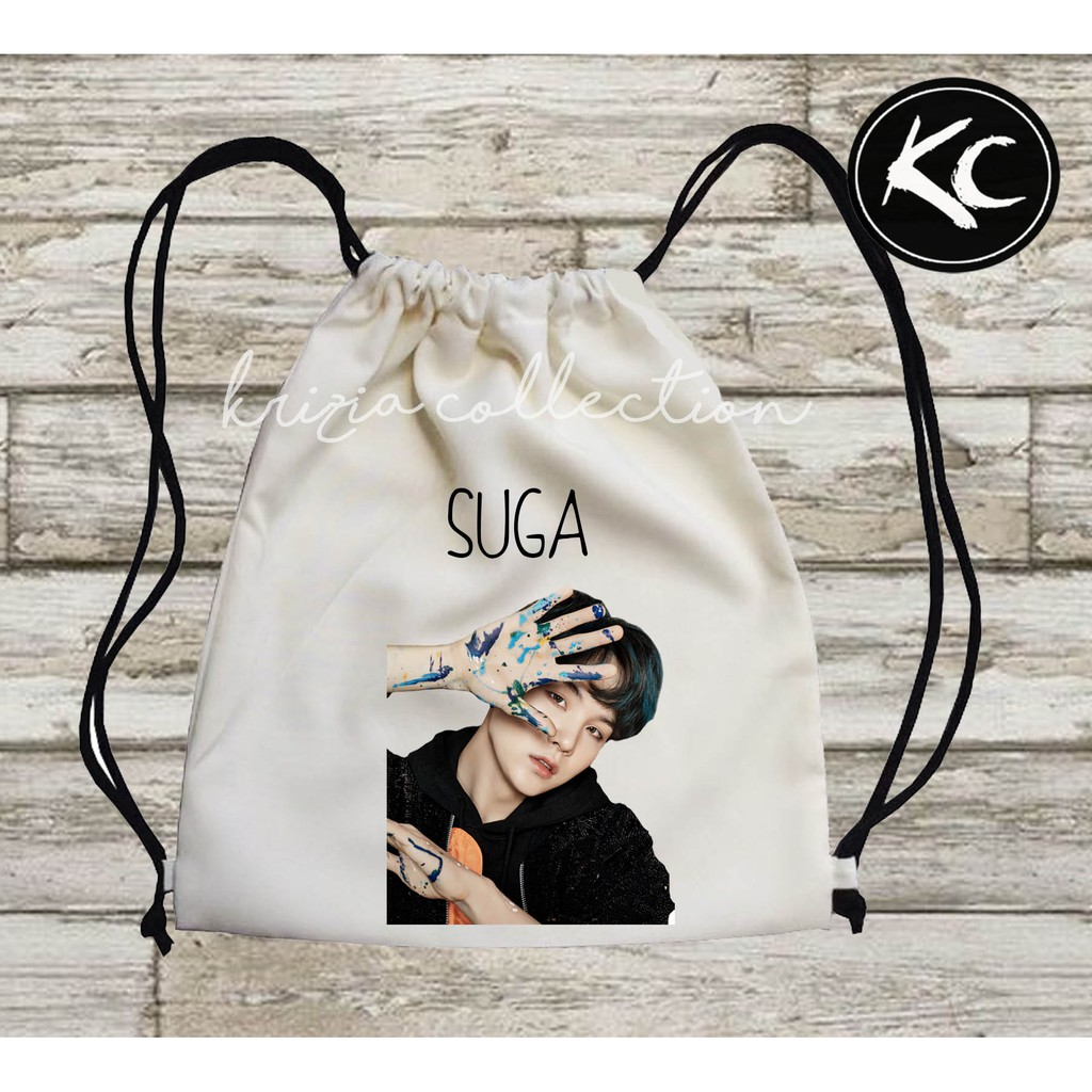 BTS TAEHYUNG DRAWSTRING BAG