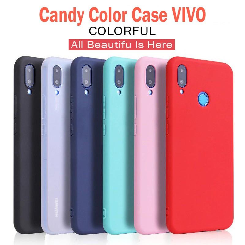 Candy Color VIVO Y53 Y55 Y69 Y71 Y81 Y93 V3 V5 V7 V9 V11i Max Plus Soft Case