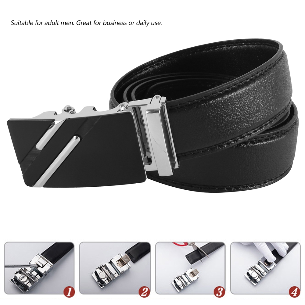 Lovoski Classic Casual Belt Leather Waistband Buckle Waist Strap for Unisex