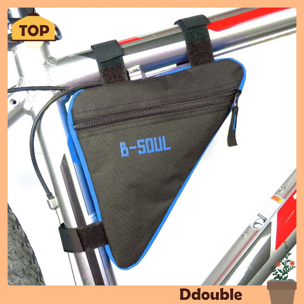 Triangle Cycling Bike Bicycle Front Tube Frame Pouch Bag With Bottle Pocket SA