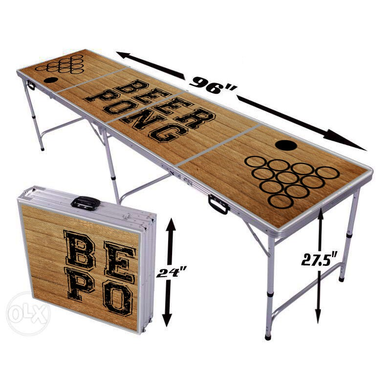 Wood Design Beer Pong Table Shopee Philippines
