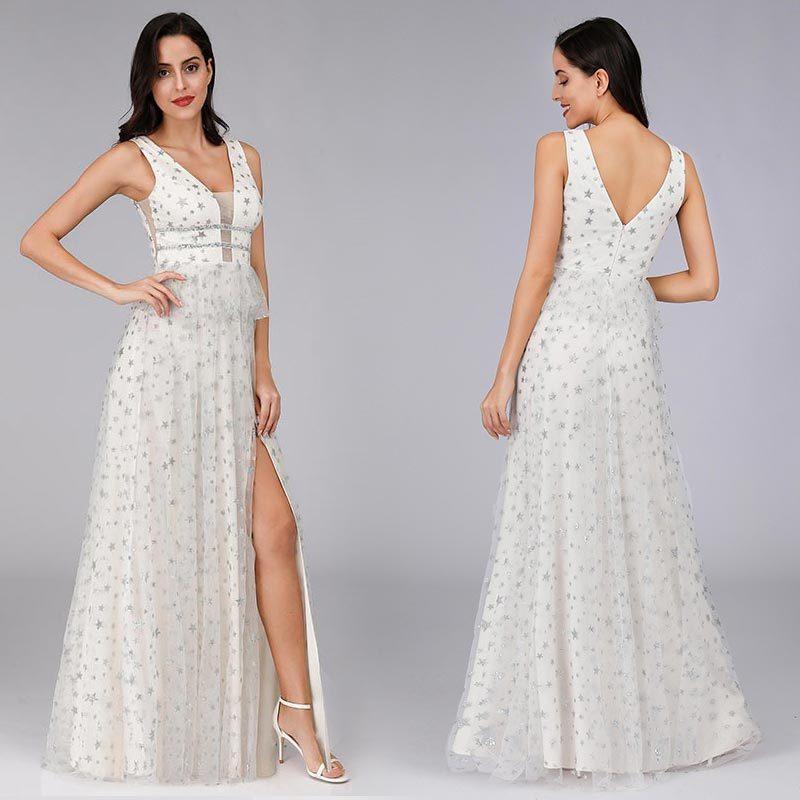 Ever Pretty Evening Dresses Long Sexy Leg Slit V Neck Sleeveless Cheap Formal Dresses Sparkle 7831 Shopee Philippines,Formal Wedding Dresses For Men