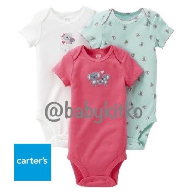 93ae5ae6d Carter's 3 piece set baby girl onesies BabyKitKo   Shopee Philippines