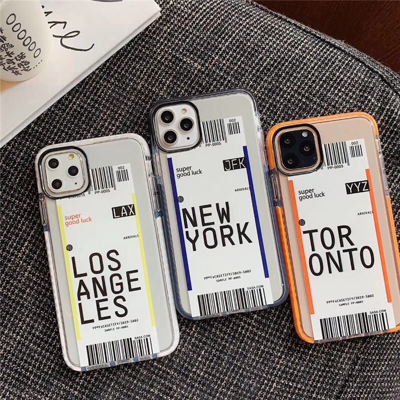 7 XR 11 Pro Max 8 Girl Gift XS Max 12 Pro for iPhone 12 NewYork City Map,Personalized Name Phone Clear Case X