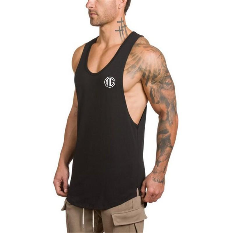 MMA GYM BODYBUILDING Boxing Stringer Racerback Vest workout training top Vest