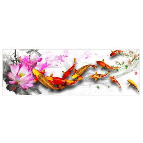 Pink Lily 80*30CM 5D DIY Full Drill Diamond Painting Home Wall Decoration