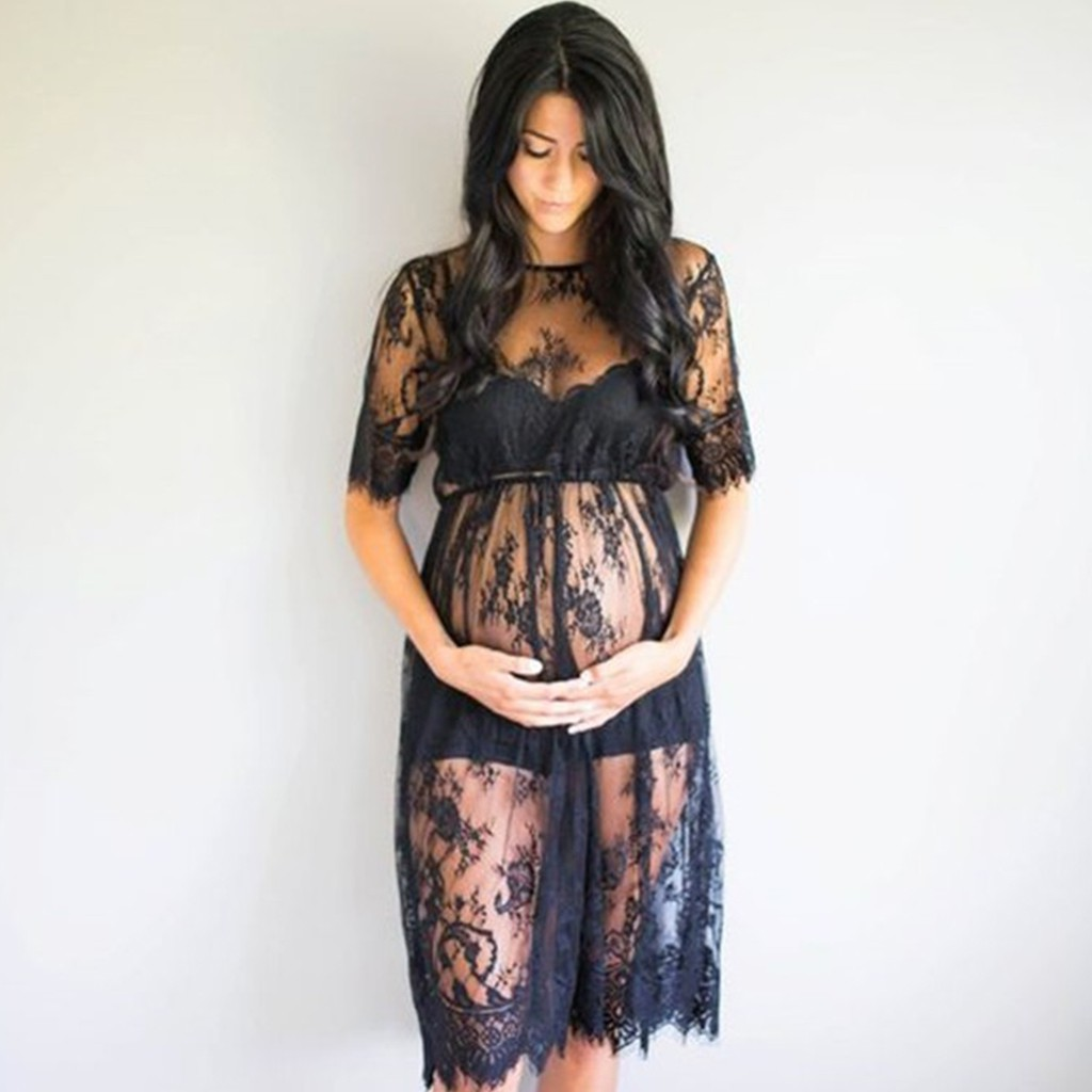 8b513ae093499 Maternity Lace Dress Photography Photo Props Pregnant SURF   Shopee  Philippines