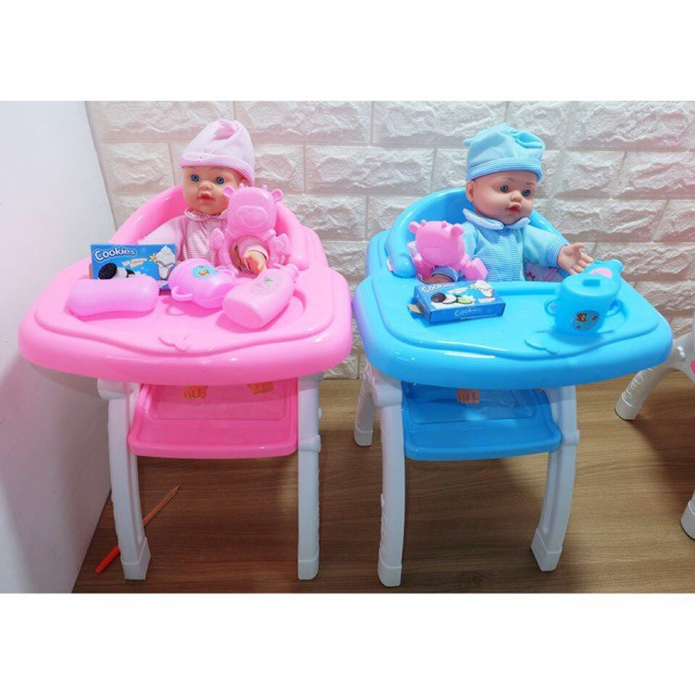 Doll Baby High Chair Set Toy Shopee Philippines